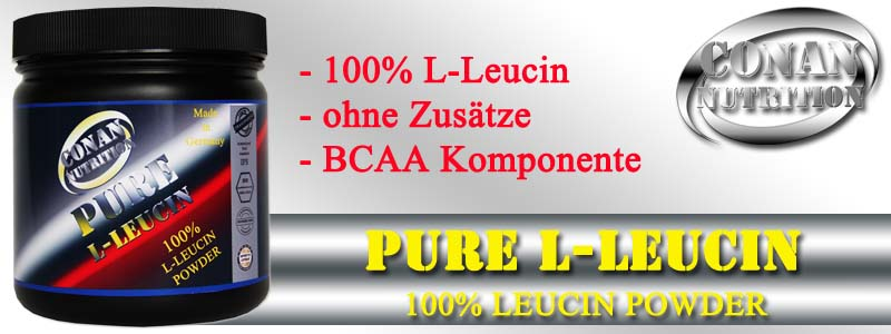 Conan Nutrition PURE L-LEUCIN Banner
