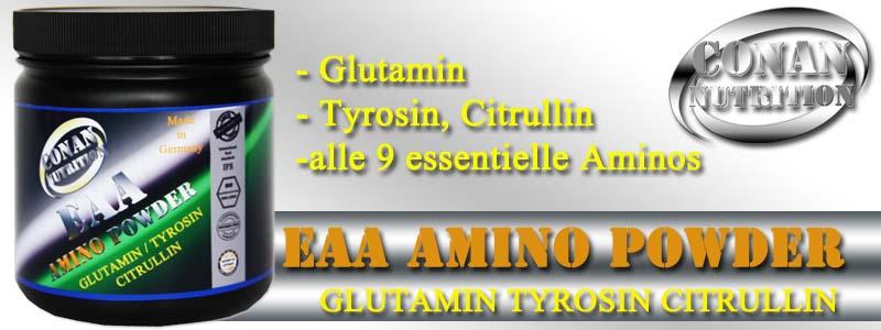 Conan Nutrition EAA AMINO POWDER Banner