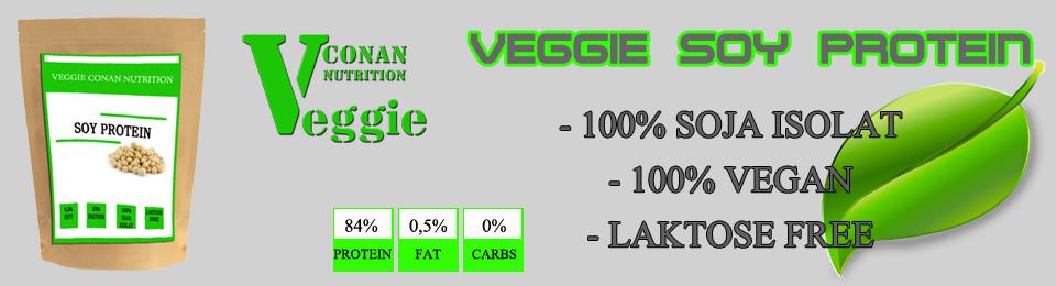 Conan Nutrition Veggie Soy protein banner